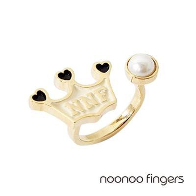 Noonoo Fingers Crown Pearl Ring 皇冠珍珠 戒指