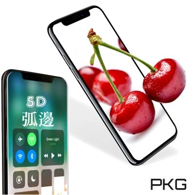 PKG Apple IPhone X 螢幕保護貼-全滿版玻璃(最新5D孤邊)