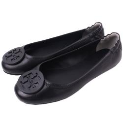 TORY BURCH 經典LOGO鬆緊平底娃娃鞋(經典黑)