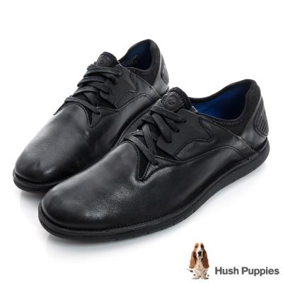 Hush Puppies ABRUPT 輕量風格綁帶鞋-黑色