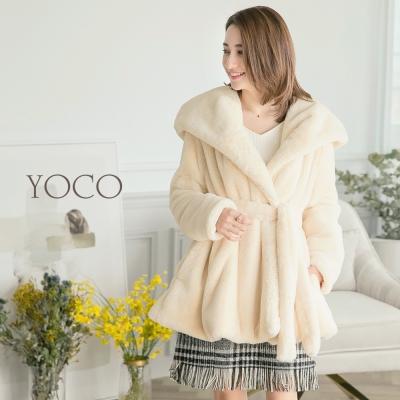 東京著衣-yoco 冬日暖感翻領毛毛外套(共一色)