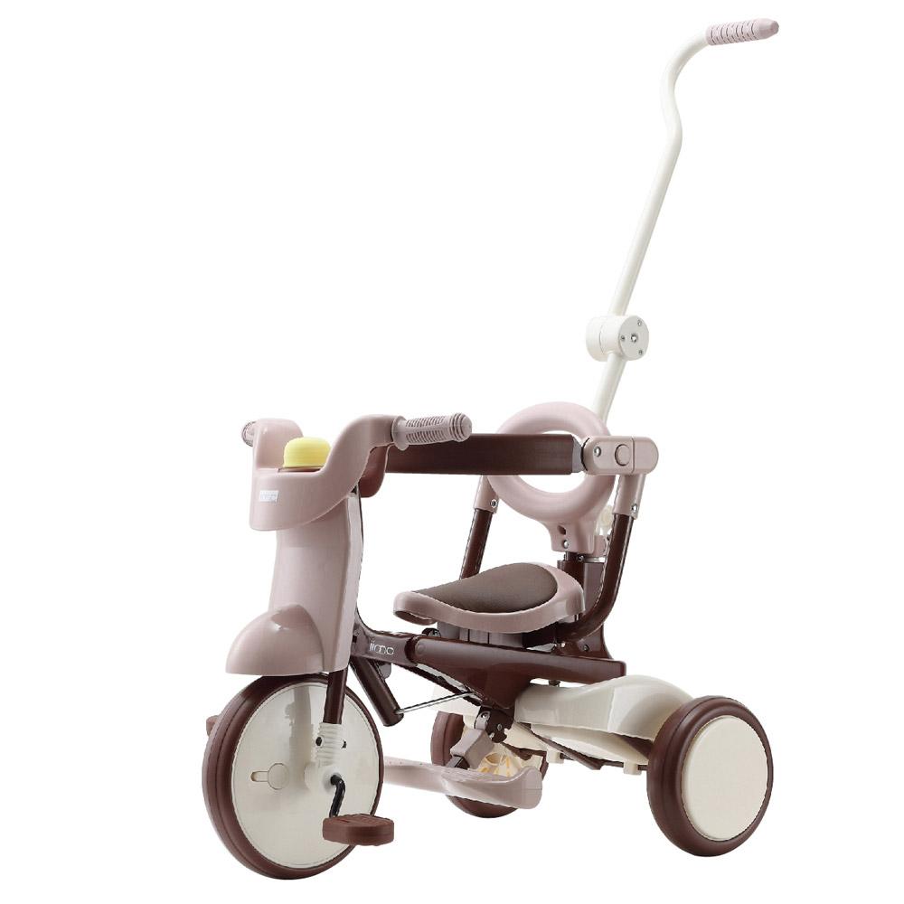 日本iimo #02 升級款 兒童三輪車(折疊款-棕色)
