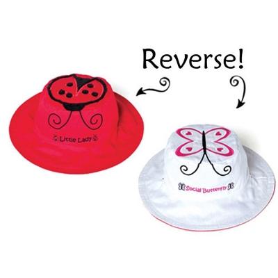 Flapjack kids 加拿大 花蝴蝶/瓢蟲款雙面防曬漁夫帽
