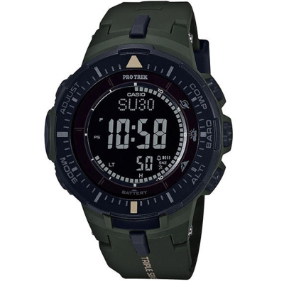 PROTREK原野時尚風格戶外活動高亮度照明登山錶(PRG-300-3)墨綠/47mm
