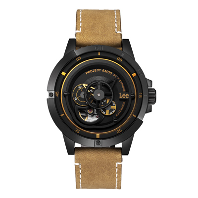 Lee  十字狙殺時尚機械腕錶-LES-M55DBL5-1G/44mm
