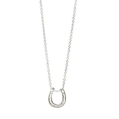 Dogeared美國品牌祈願項鍊-銀色馬蹄鐵