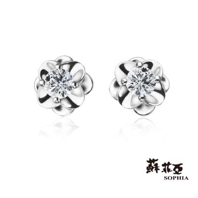 蘇菲亞SOPHIA 鑽石耳環-唯美系列 0.10克拉鑽石耳環