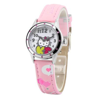 Hello Kitty 繽紛樂園俏麗腕錶-粉紅/28mm