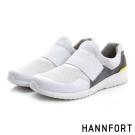 HANNFORT RS8網布套入式氣墊休閒鞋-男-簡單白