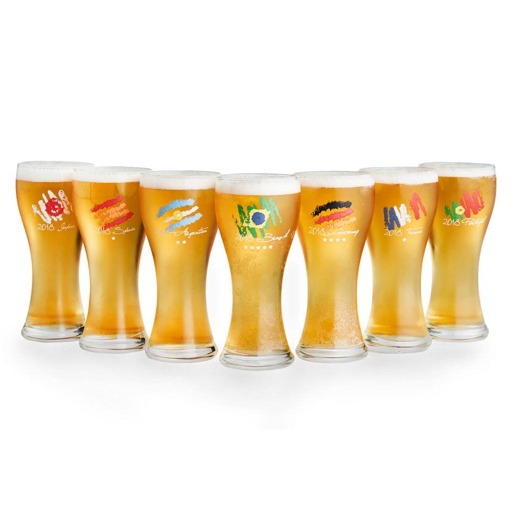 2018世足限定-Let's GOAL台灣製啤酒杯330ML*3入組