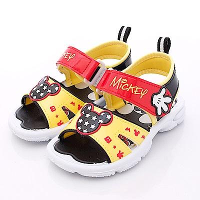 迪士尼童鞋 米奇星星涼鞋款 FO63801黃(中小童段)C