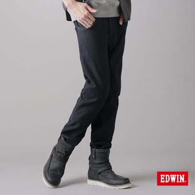【EDWIN】大尺碼 W.F PREMIuM中直筒保溫褲-男款(原藍色)