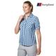 【Berghaus貝豪斯】女款銀離子抗菌除臭抗UV短袖襯衫S06F44藍 product thumbnail 1