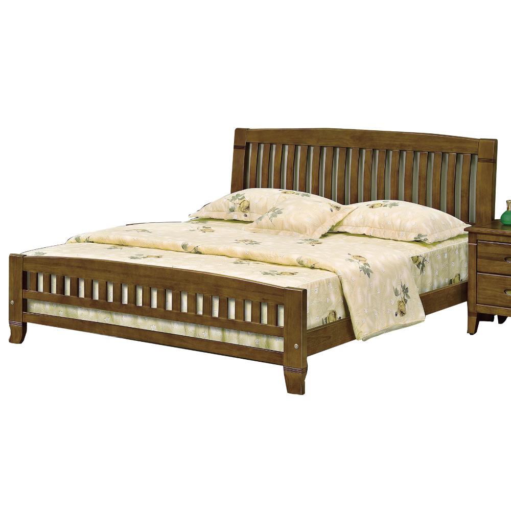 品家居 曼奇5尺雙人床台(不含床墊&床頭櫃)-154x197x105.7cm免組