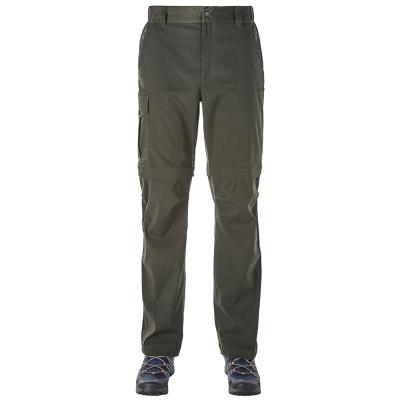 【Berghaus 貝豪斯】男款防潑水彈性抗UV兩截褲S08M03-綠