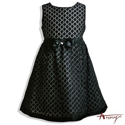 精緻典雅蕾絲緞帶蝴蝶結洋裝*4150黑