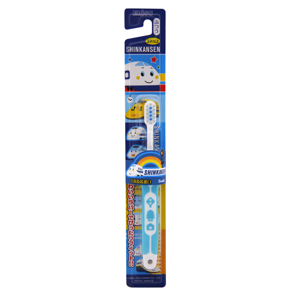 日本EBISU-新幹線軟柄兒童牙刷 B-S742-顏色隨機