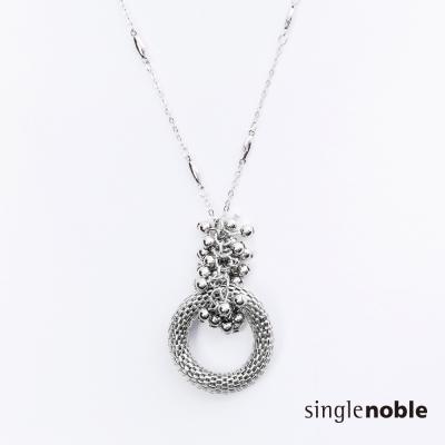 獨身貴族-法式女人立體鏤空圓環長鍊-1色