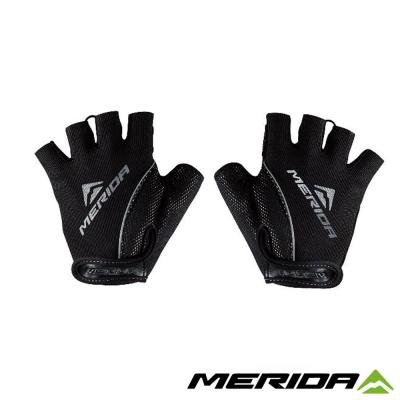 《MERIDA 》美利達吸震襯墊短指手套-黑