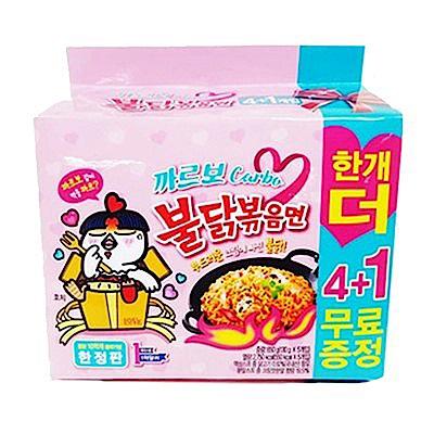 韓國粉紅辣雞奶油培根乾炒拉麵(130gx5入)