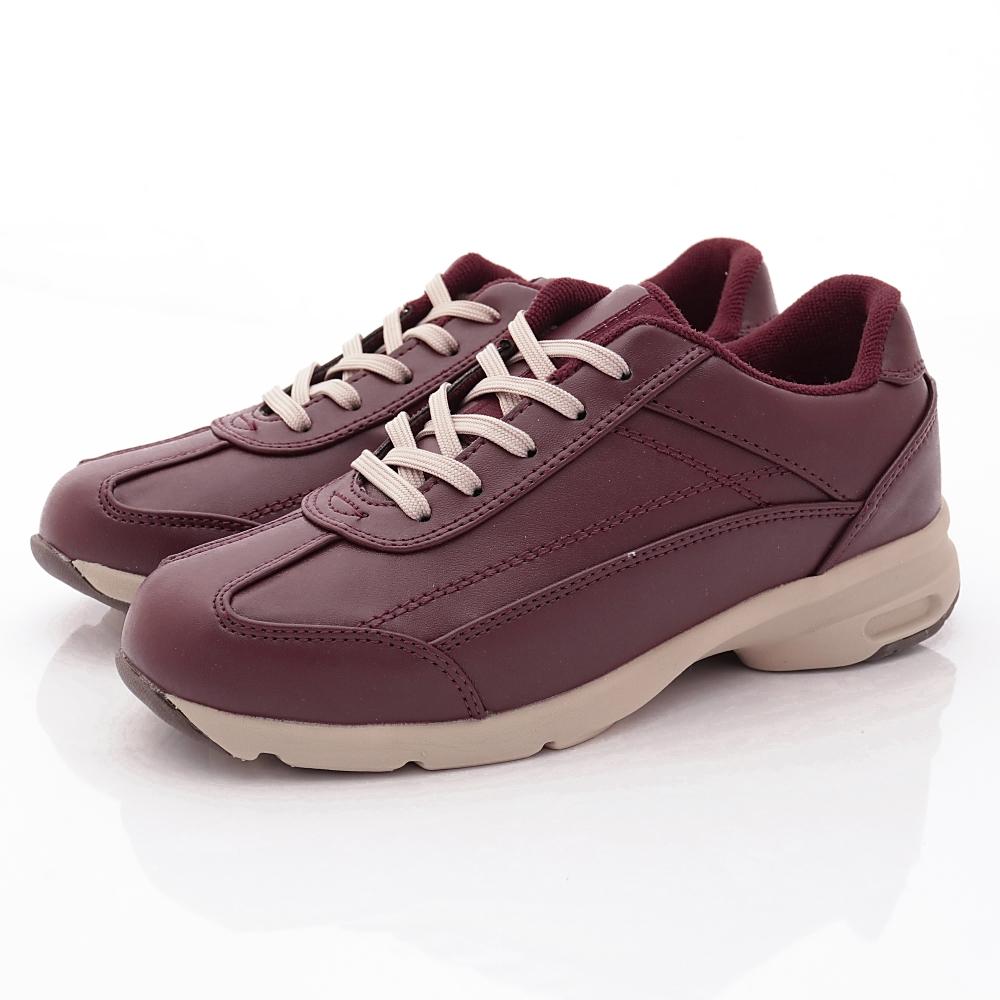 日本Supplist 戶外健走鞋-靜態防水3E寬楦款-ON552酒紅(女段)