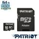 Patriot美商博帝 LX MicroSD C10 64G記憶卡組 product thumbnail 1