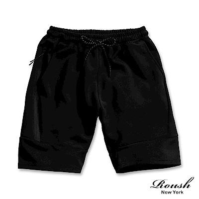 Roush 側邊防水拉鍊運動短棉褲(3色)