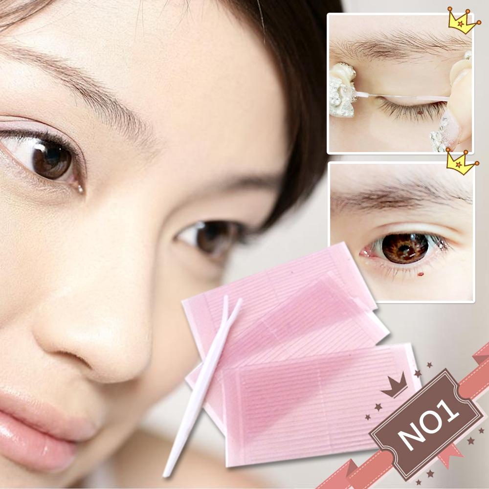 神綺町☆日本隱形塑眼貼線超自然雙眼皮貼膠條纖維條88入贈調整棒