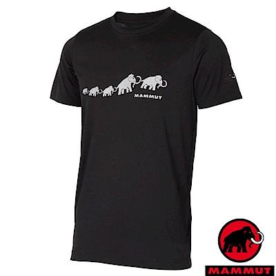 【瑞士 MAMMUT 長毛象】男新款 彈性透氣短袖圓領T恤_黑