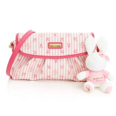 PLAYBOY-P-Peach-系列淑女2WAY小包-桃紅色