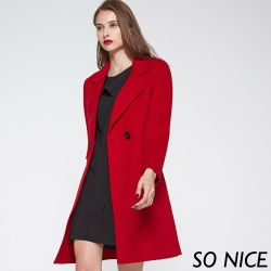 SO NICE雙面呢羊毛大衣外套