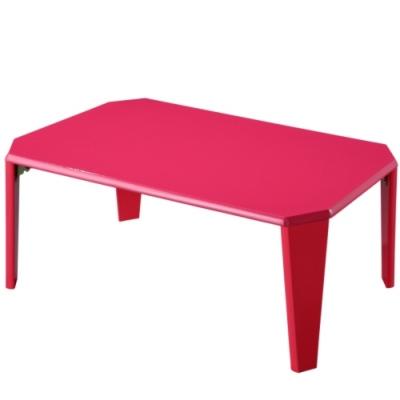 EASY HOME 魔鏡鏡面烤漆折疊和室桌-櫻桃紅