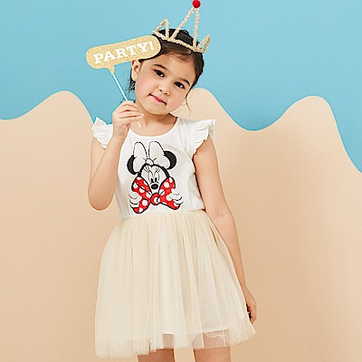 Disney 米妮系列甜心公主蓬紗洋裝 (2色可選)
