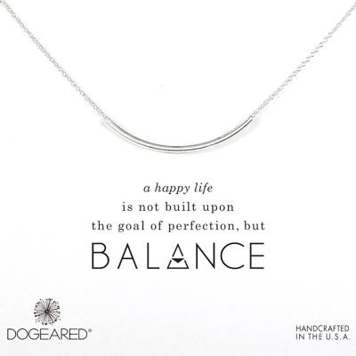 Dogeared 平衡骨 亮面大墜 銀色許願項鍊 Balance Tube 附原廠盒