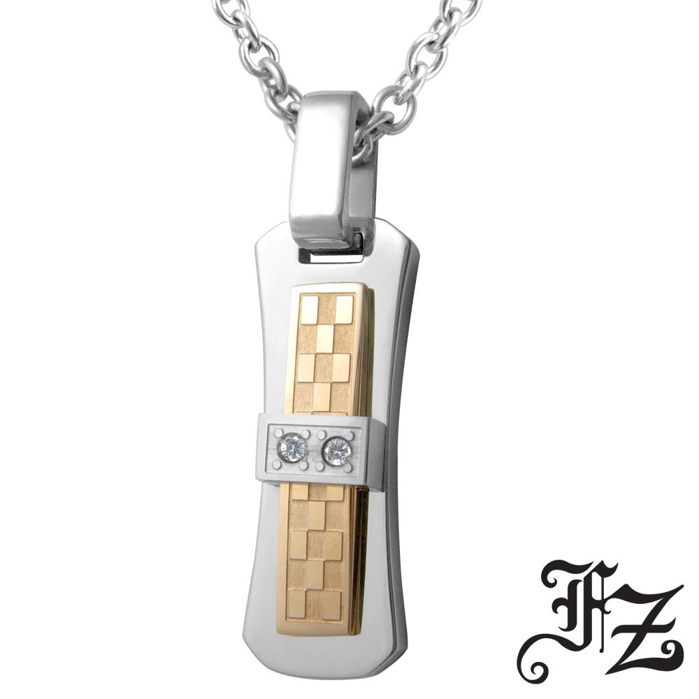 FZ 執著唯一白鋼項鍊(玫瑰金)