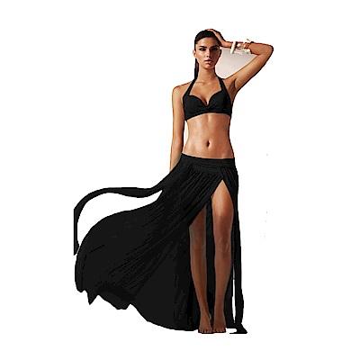 Biki比基尼妮泳衣   飄揚輕質紗長沙灘裙可搭泳衣尼(單裙)