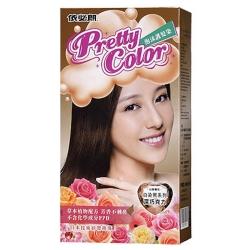 依必朗pretty color 晶彩泡沫護髮染-深巧克力