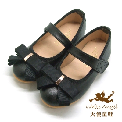 天使童鞋 俏麗夏綠蒂公主鞋(中大童)-黑 JU817
