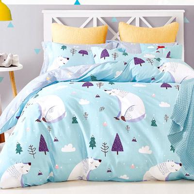 Grace Life 北極熊 精梳純棉單人全鋪棉床包兩用被三件組