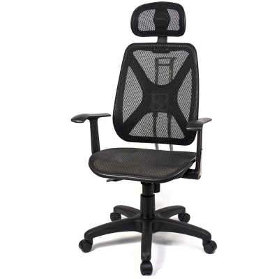 aaronation愛倫國度 - 機能性椅背辦公/電腦網椅(DW-105HT手枕)