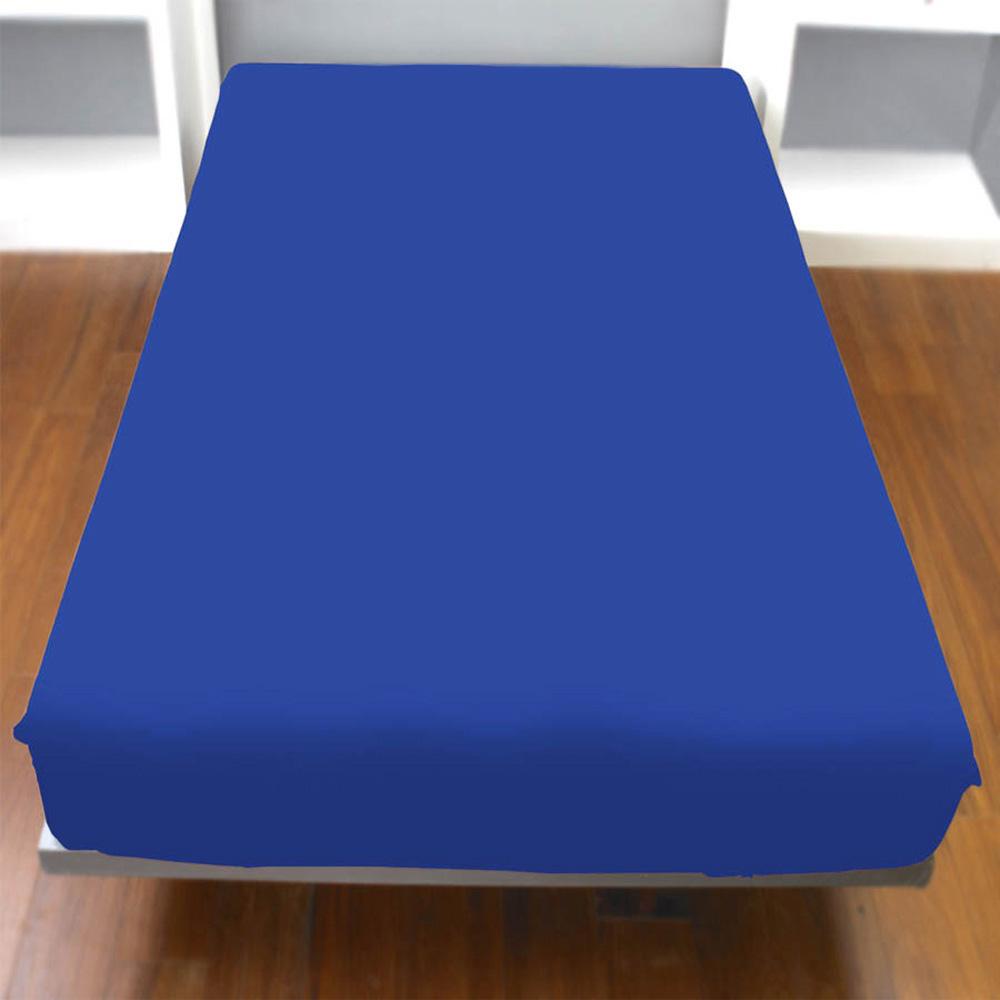 Yvonne Collection雙人純棉床包-深藍
