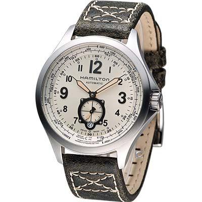 Hamilton Khaki 漢米爾頓航空自動機械腕錶-香檳/42mm