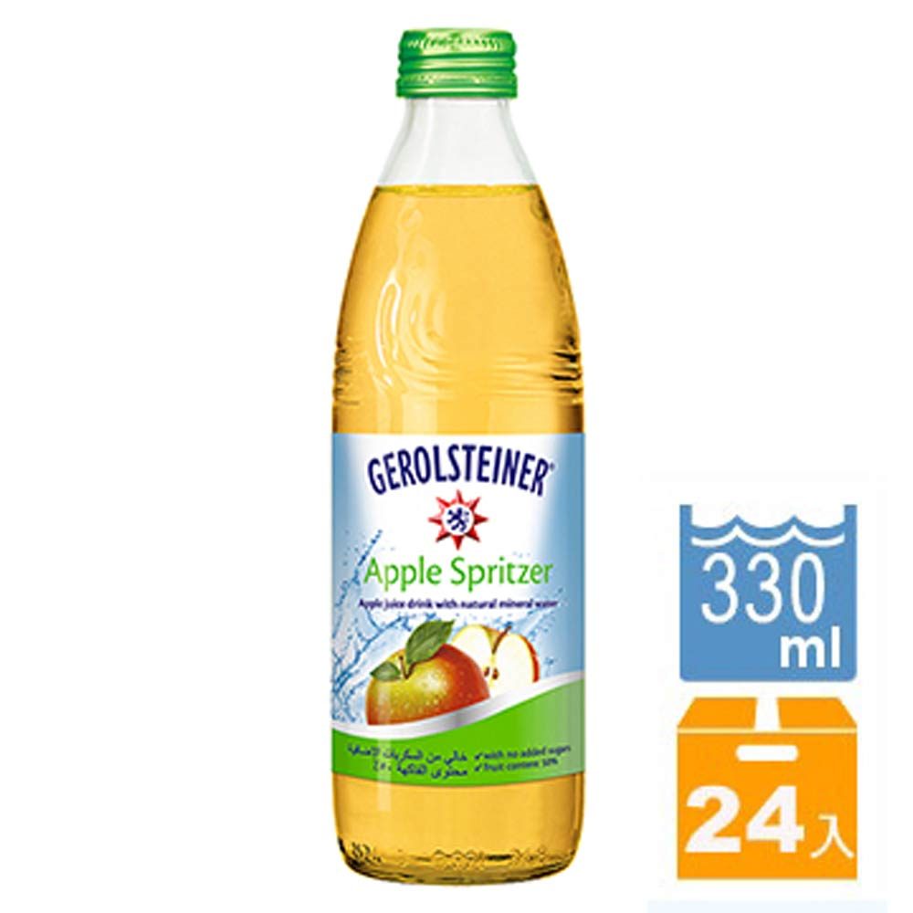GEROLSTEINER 蘋果氣泡礦泉水(330mlx24入)