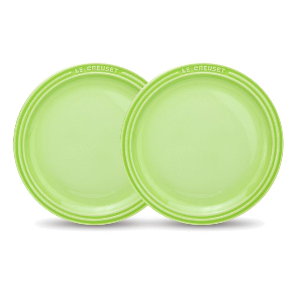 LE CREUSET 瓷器圓盤27cm- 2入(奇異果綠)