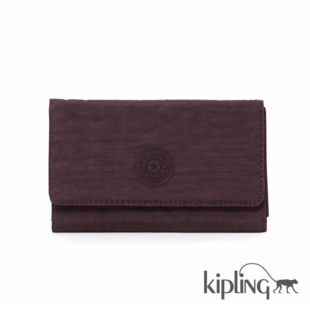 Kipling 長夾 深紫羅蘭素面-小