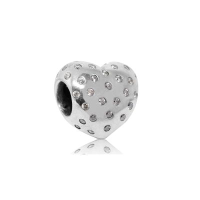 Pandora 潘朵拉 閃耀魅力鑲鋯愛心 純銀墜飾 串珠
