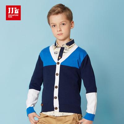 JJLKIDS 海軍小型男針織外套(藏青)