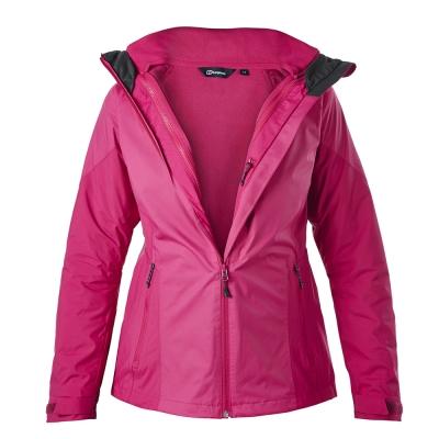 【Berghaus貝豪斯】女款AQ2二件式刷毛外套H22FQ9-粉紅