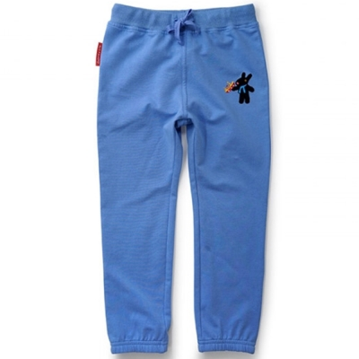 GL法國 優質萌系童趣天空藍休閒抽繩長褲