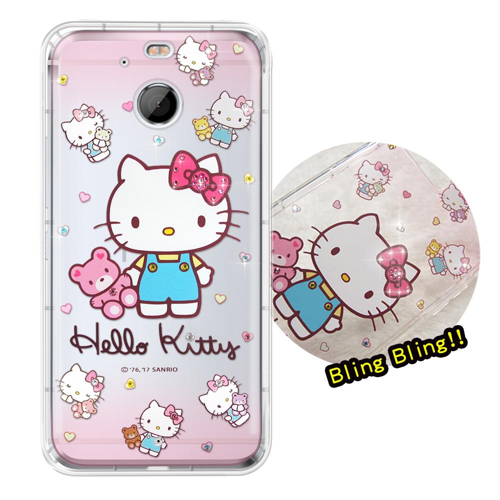 正版凱蒂貓HTC 10 EVO 5.5吋夢幻童話彩鑽氣墊手機殼愛戀小熊